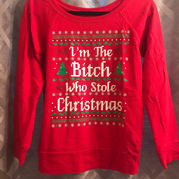 Funny Red Adult Christmas Ugly Sweater , Grinch